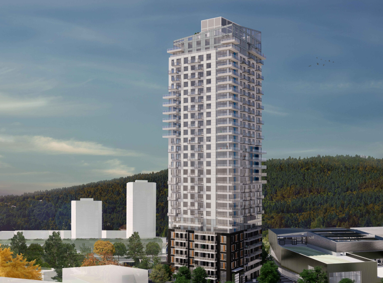 Render of Burquitlam Park building
