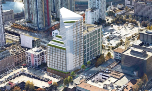 Render of 550 Cambie St Office Tower